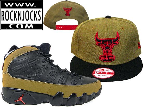 9b4729cfaf881 Chicago Bulls NEW ERA Snapback MAtching AJ Olive 9 Available   Rock-N-Jocks
